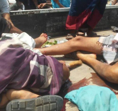 """أبين..عملية ارهابية تستهدف قافلة عسكرية  تابعة للانتقالي وسقوط قتلى وجرحى """"ألاسماء"""""""