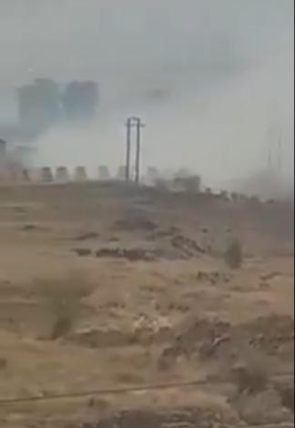 انفجارات عنيفة تهز مقر الفرقة الاولى مدرع  بصنعاء  .. واعمدة الدخان  تتصاعد ( فيديو )